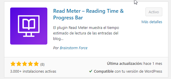 Read Meter Reading Time Progress Bar for WordPress