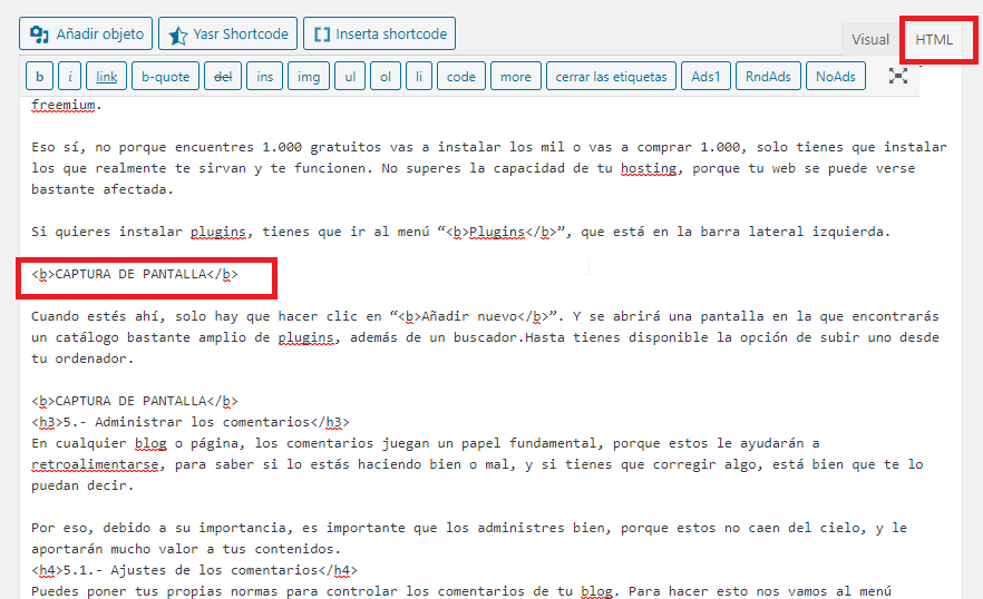 codigo fuente wordpress