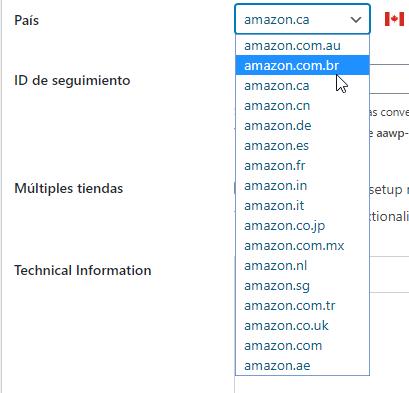 configurar paises amazon plugin aawp