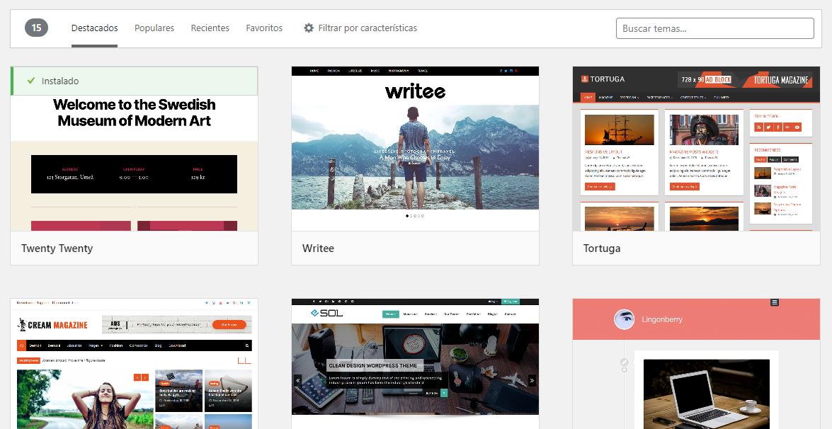 descargar themes wordpress