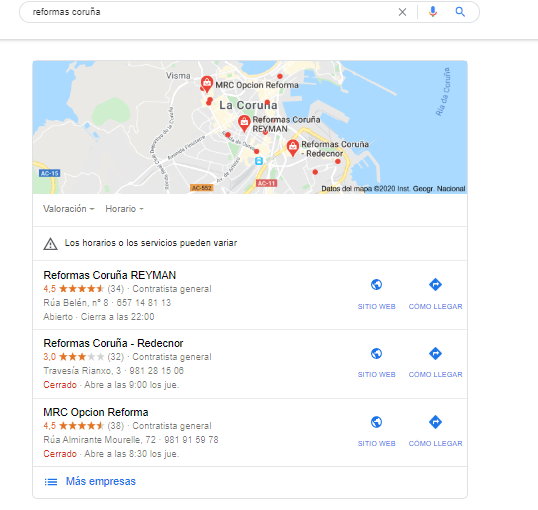 featured snippet geolocaliacion