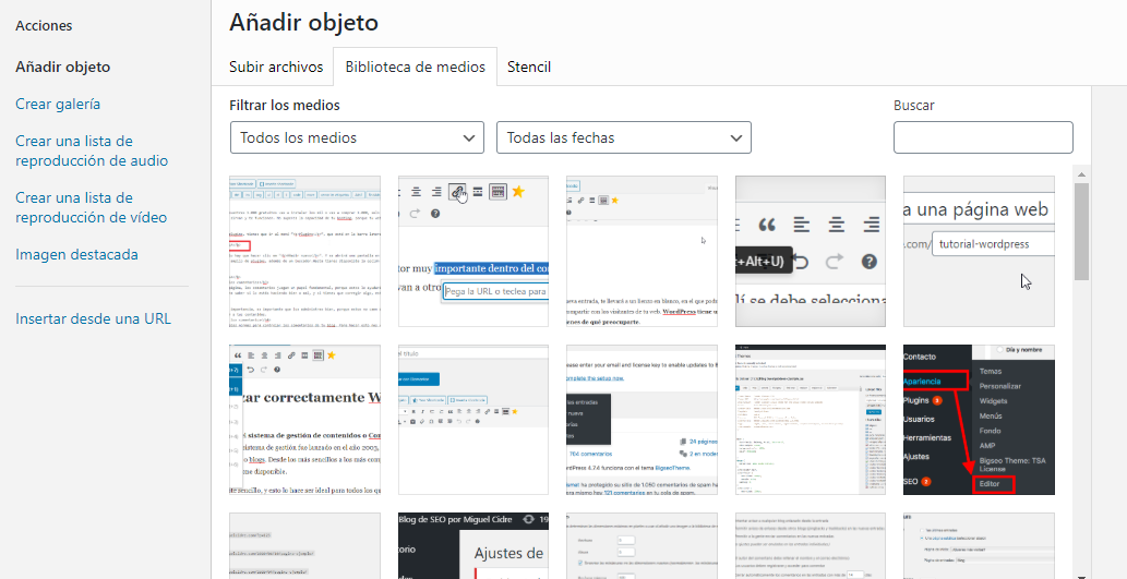 galeria imagenes wordpress