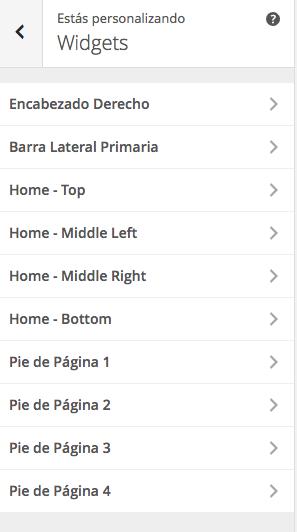 gestionar widgets wordpress