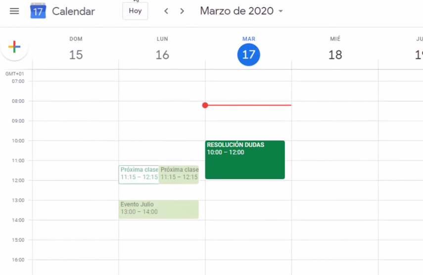 reunion google meet calendar