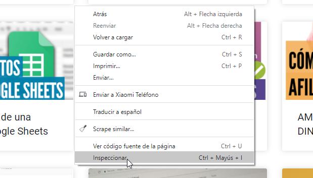inspeccionar elemento