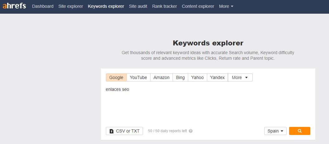 keyword explorer ahrefs
