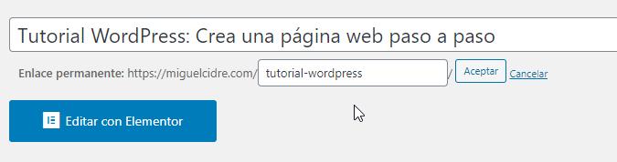 modificar url wordpress