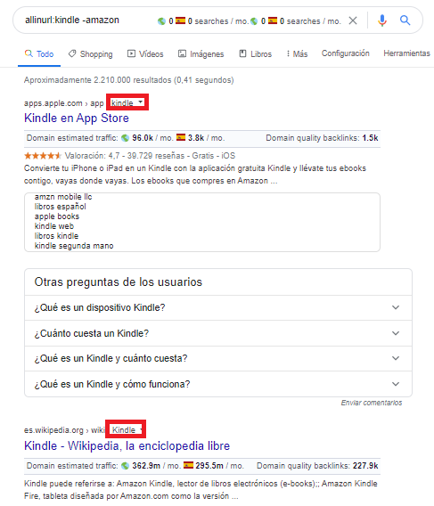operador google allinurl