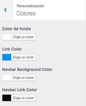 personalizar colores wordpress