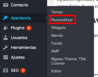 personalizar plantilla wordpress