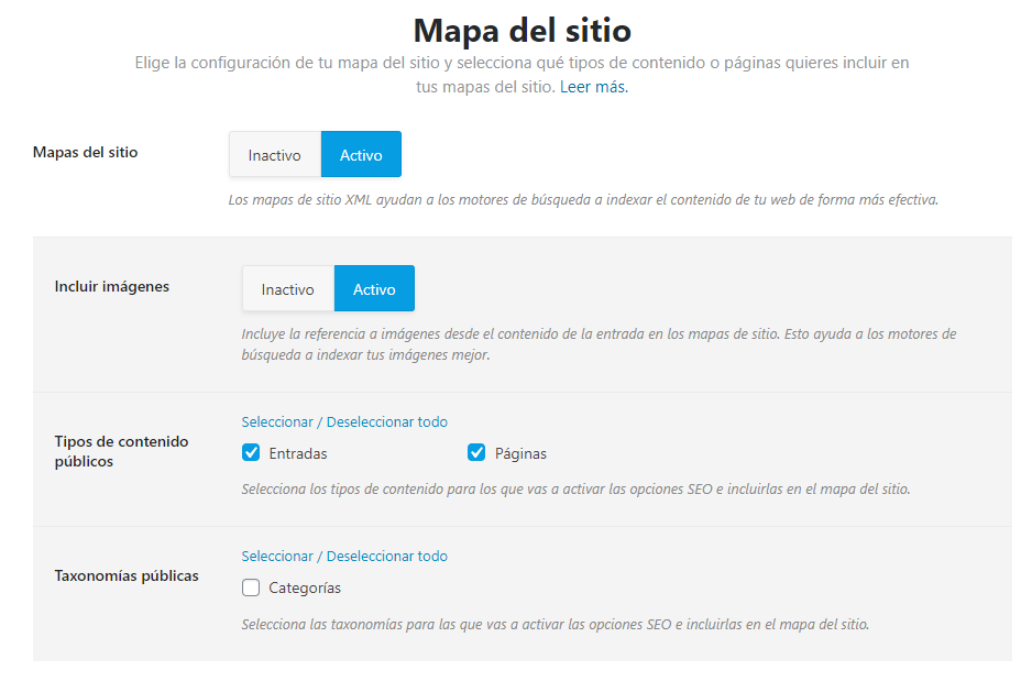 rank math mapa del sitio