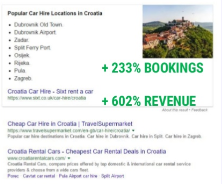 sixt featured snippets locations