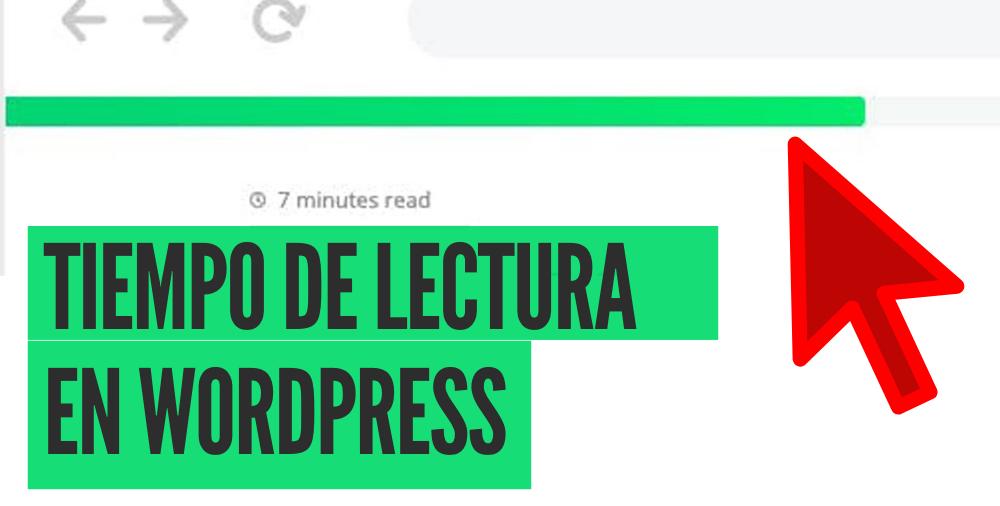 tiempo de lectura en wordpress